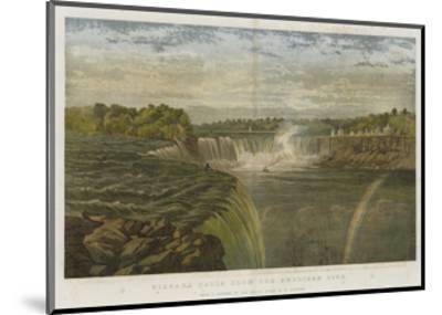 Niagara Falls from the American Side-George Henry Andrews-Mounted Giclee Print