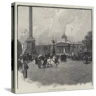 Views in London, Trafalgar Square-George L. Seymour-Stretched Canvas Print