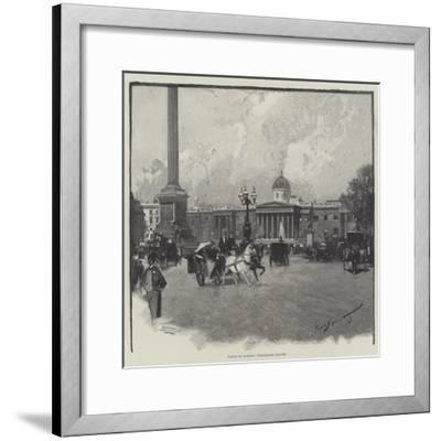 Views in London, Trafalgar Square-George L. Seymour-Framed Giclee Print