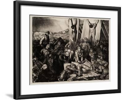 Gott Strafe England, 1918-George Wesley Bellows-Framed Giclee Print