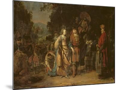Isaac and Rebecca by the Well of Lahai-Roi-Gerbrandt Van Den Eeckhout-Mounted Giclee Print