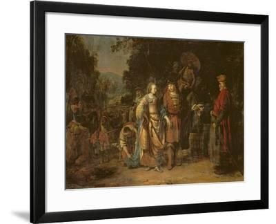 Isaac and Rebecca by the Well of Lahai-Roi-Gerbrandt Van Den Eeckhout-Framed Giclee Print