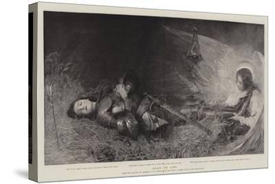 Joan of Arc-George William Joy-Stretched Canvas Print