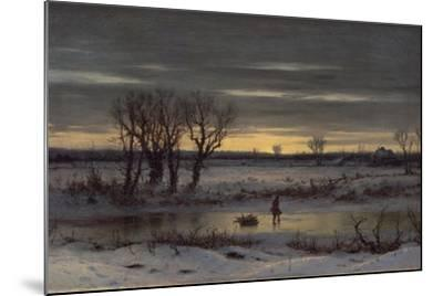Winter Twilight Near Albany, 1858-George Henry Boughton-Mounted Giclee Print