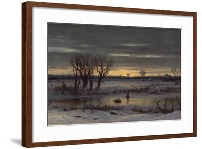 Winter Twilight Near Albany, 1858-George Henry Boughton-Framed Giclee Print