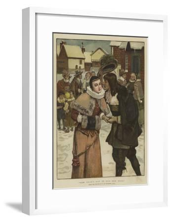 New Year's Day in Old New York-George Henry Boughton-Framed Giclee Print