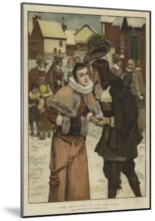 New Year's Day in Old New York-George Henry Boughton-Mounted Giclee Print