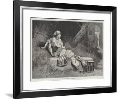Welcome Footsteps-George L. Seymour-Framed Giclee Print