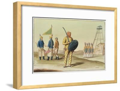 A Chinese Infantryman from 'Le Costume Ancien Et Moderne' by Giulio Ferrario, Published C.1820S-30S-Giovanni Bigatti-Framed Giclee Print