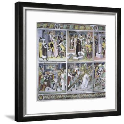 Passion of Christ, 1492-Giovanni Canavesio-Framed Giclee Print