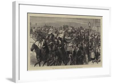 The Brighton Season, the Parade in the Afternoon-Godefroy Durand-Framed Giclee Print