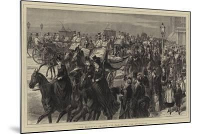 The Brighton Season, the Parade in the Afternoon-Godefroy Durand-Mounted Giclee Print