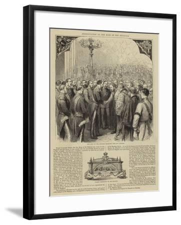 Presentation to the King of the Belgians-Godefroy Durand-Framed Giclee Print