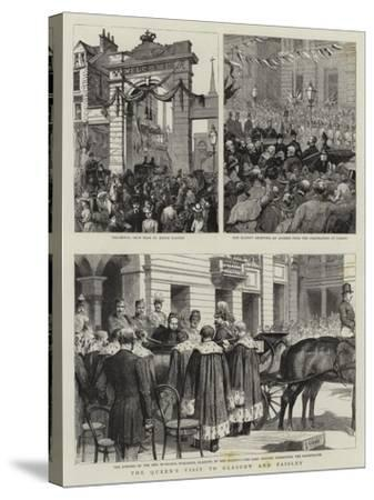 The Queen's Visit to Glasgow and Paisley-Godefroy Durand-Stretched Canvas Print
