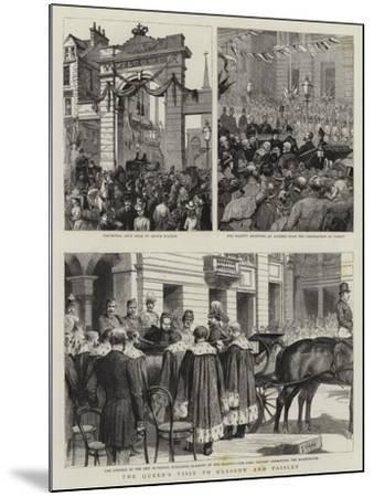 The Queen's Visit to Glasgow and Paisley-Godefroy Durand-Mounted Giclee Print