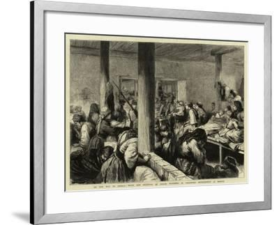 On the Way to Siberia, Wives and Relatives of Exiled Prisoners in Voluntary Imprisonment at Moscow-Godefroy Durand-Framed Giclee Print