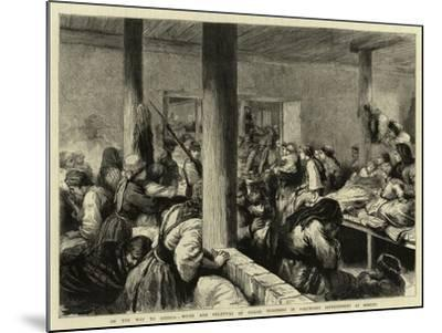 On the Way to Siberia, Wives and Relatives of Exiled Prisoners in Voluntary Imprisonment at Moscow-Godefroy Durand-Mounted Giclee Print