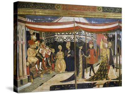 Scene of Dancing-Giovanni Di Ser Giovanni-Stretched Canvas Print