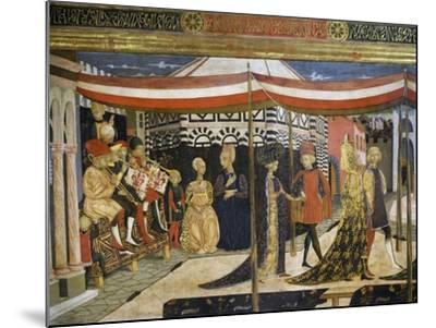 Scene of Dancing-Giovanni Di Ser Giovanni-Mounted Giclee Print