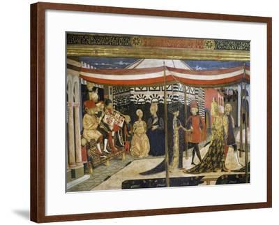 Scene of Dancing-Giovanni Di Ser Giovanni-Framed Giclee Print