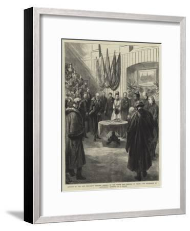 Opening of the New Merchant Taylors' Schools by the Prince and Princess of Wales-Godefroy Durand-Framed Giclee Print