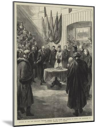 Opening of the New Merchant Taylors' Schools by the Prince and Princess of Wales-Godefroy Durand-Mounted Giclee Print