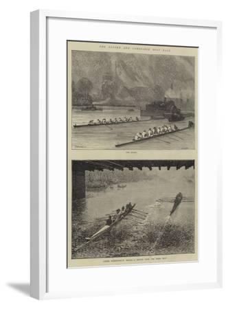 The Oxford and Cambridge Boat Race-Godefroy Durand-Framed Giclee Print