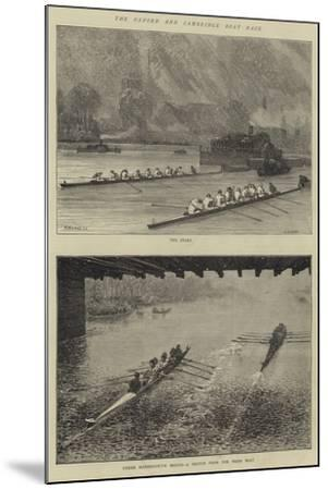 The Oxford and Cambridge Boat Race-Godefroy Durand-Mounted Giclee Print