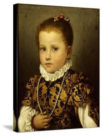 Girl of Family Redetti-Giovanni Battista Moroni-Stretched Canvas Print