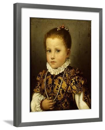 Girl of Family Redetti-Giovanni Battista Moroni-Framed Giclee Print