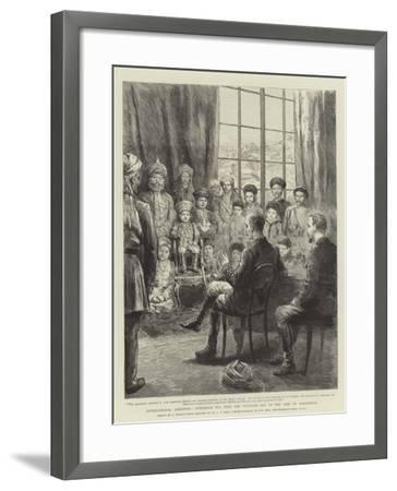 International Amenities, Afternoon Tea with the Youngest Son of the Amir of Afghanistan-Godefroy Durand-Framed Giclee Print