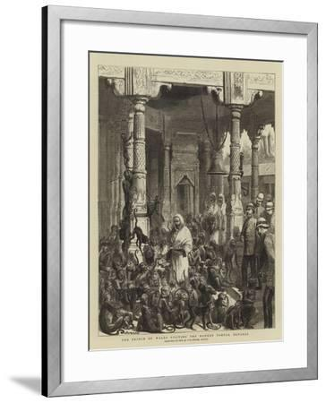 The Prince of Wales Visiting the Monkey Temple, Benares-Godefroy Durand-Framed Giclee Print