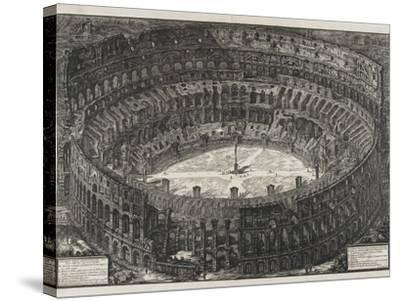 View of Flavian Amphitheater, Called the Colosseum, from Views of Rome, 1776-Giovanni Battista Piranesi-Stretched Canvas Print