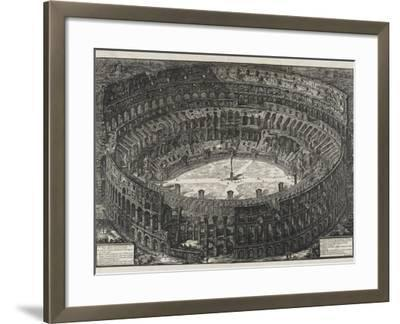 View of Flavian Amphitheater, Called the Colosseum, from Views of Rome, 1776-Giovanni Battista Piranesi-Framed Giclee Print