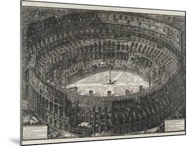 View of Flavian Amphitheater, Called the Colosseum, from Views of Rome, 1776-Giovanni Battista Piranesi-Mounted Giclee Print