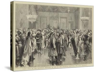 Fancy Ball in the Brighton Pavilion, in Aid of the Brighton Hospital for Sick Children-Godefroy Durand-Stretched Canvas Print