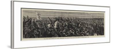 The Grand Duke Nicholas of Russia Announcing the Signing of the Peace to His Troops-Godefroy Durand-Framed Giclee Print