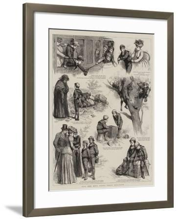 How Our Boys Spent their Holidays-Godefroy Durand-Framed Giclee Print