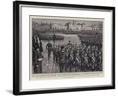 The Coronation Review of the Boys' Brigades by the Prince of Wales on the Horse Guards' Parade-Gordon Frederick Browne-Framed Giclee Print