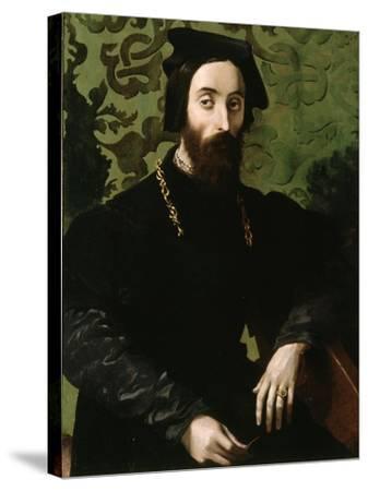 Portrait of a Musician, C.1540-Girolamo Mazzola Bedoli-Stretched Canvas Print