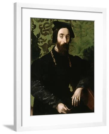 Portrait of a Musician, C.1540-Girolamo Mazzola Bedoli-Framed Giclee Print