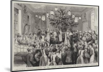 Christmas Entertainment in the Jenny Lind Infirmary for Sick Children, Norwich-Godefroy Durand-Mounted Giclee Print