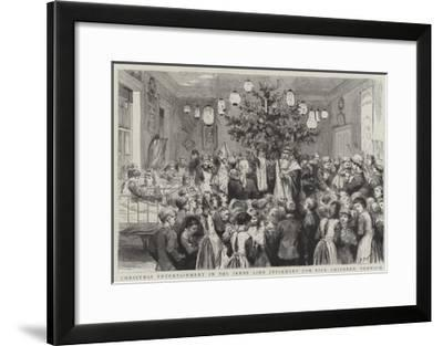 Christmas Entertainment in the Jenny Lind Infirmary for Sick Children, Norwich-Godefroy Durand-Framed Giclee Print