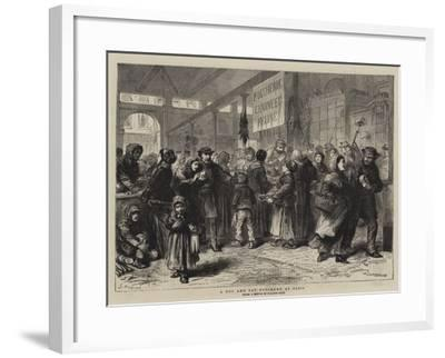 A Dog and Cat Butcher's at Paris-Godefroy Durand-Framed Giclee Print