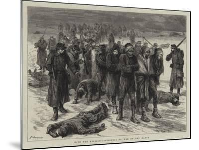 With the Russians, Prisoners of War on the March-Godefroy Durand-Mounted Giclee Print