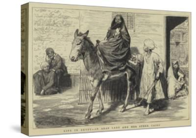 Life in Egypt, an Arab Lady and Her Steed, Cairo-Godefroy Durand-Stretched Canvas Print