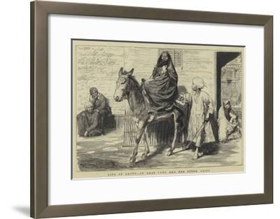 Life in Egypt, an Arab Lady and Her Steed, Cairo-Godefroy Durand-Framed Giclee Print