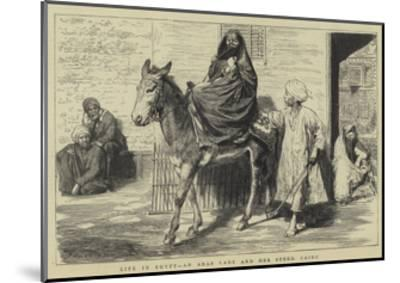 Life in Egypt, an Arab Lady and Her Steed, Cairo-Godefroy Durand-Mounted Giclee Print