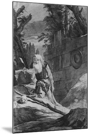 St Hilarion-Giovanni Battista Tiepolo-Mounted Giclee Print