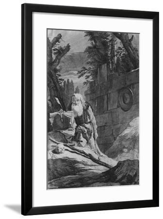 St Hilarion-Giovanni Battista Tiepolo-Framed Giclee Print
